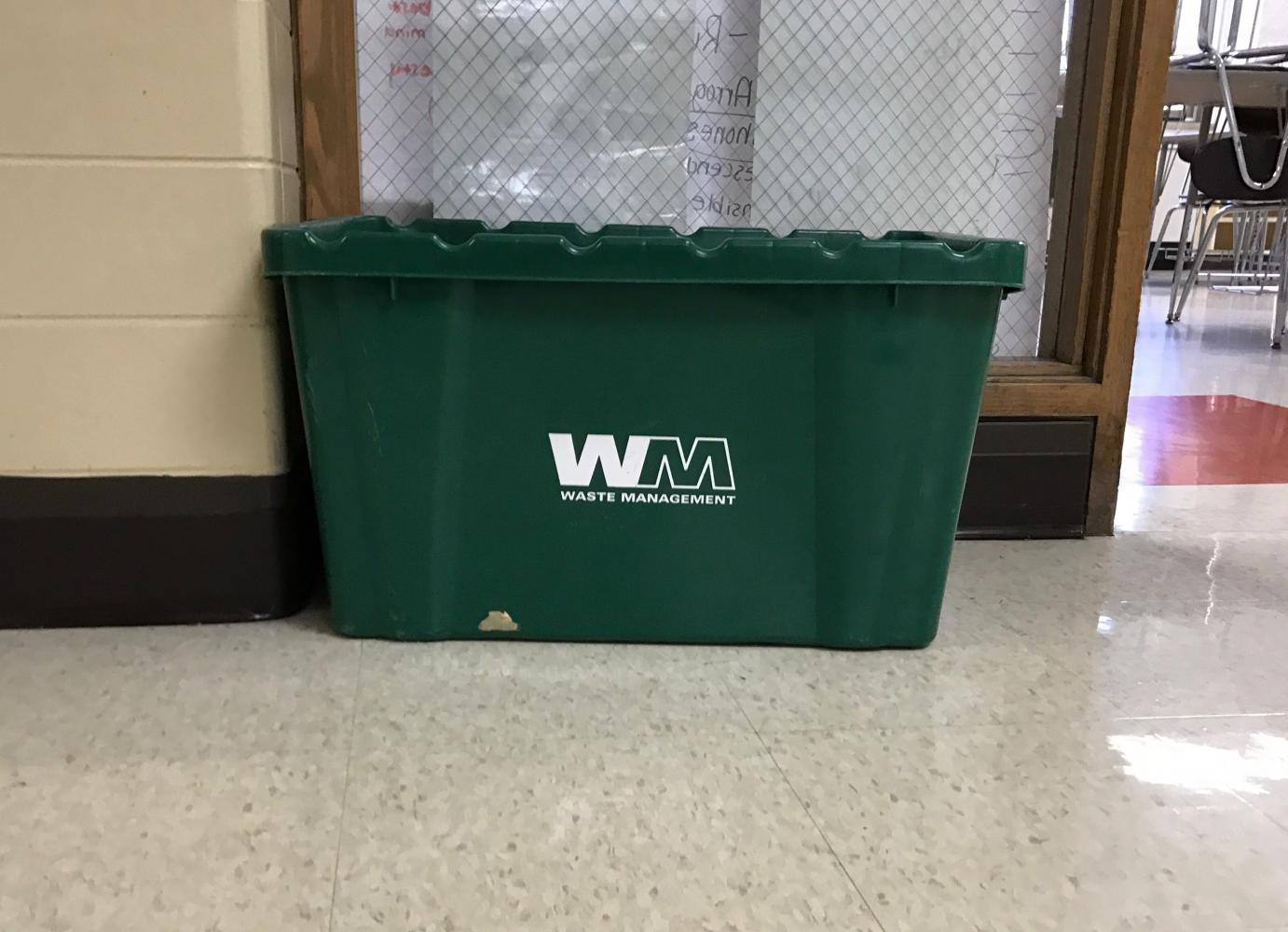 Part of the project will focus on increasing recycling at LHS. They plan to add more recycling bins around the school and bring more awareness to the importance of recycling.