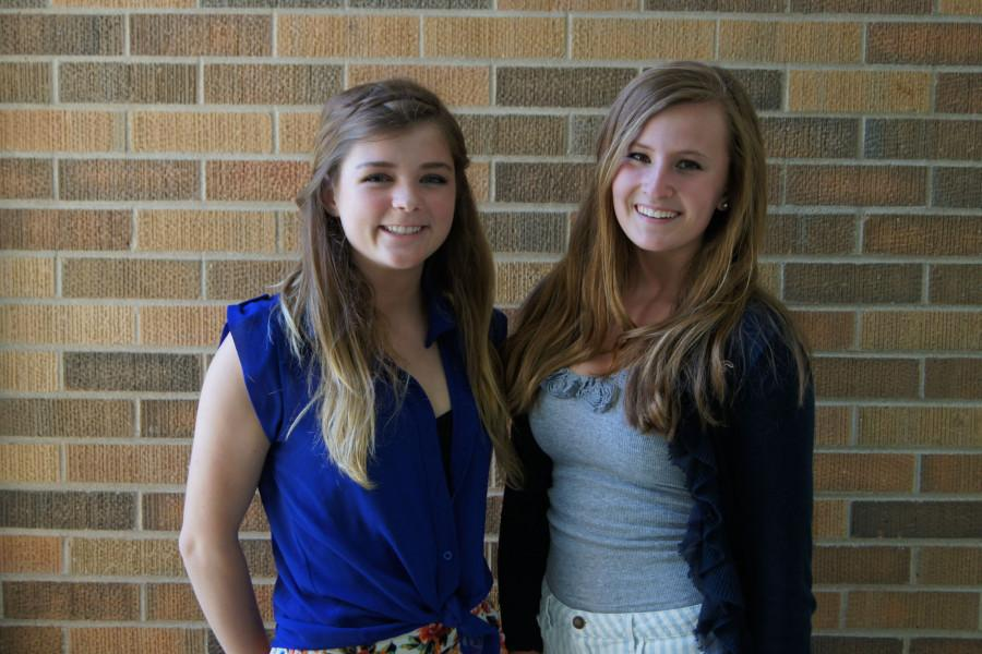 President Shannon Roche (left) and Vice President Alex Yoor will lead the new Student Council Executive Board.