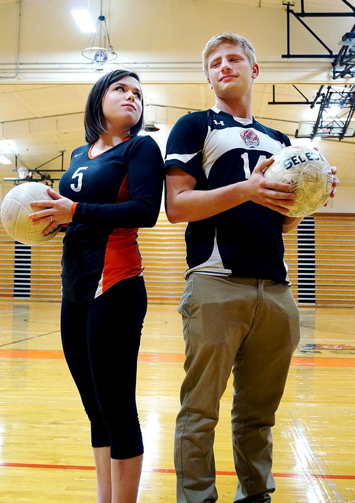 Senior+girls+volleyball+player+Carly+Ostmeyer+and+senior+boys+soccer+player+Lloyd+Chatfield+face+the+sports+popularity+dilemma+at+LHS.+