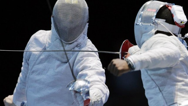 The Thundercats fencing team in action.