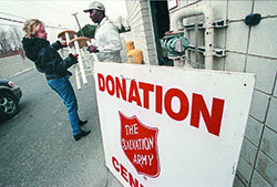 Opportunities to donate during the holidays are never hard to spot.
