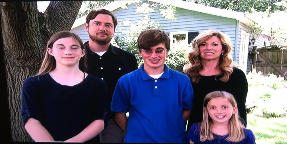 Monsters Inside Me featured a picture of Jack and his family outside their house in Libertyville.