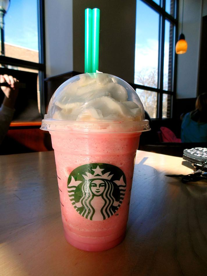One item on the Starbucks secret menu is a Cotton Candy Frappuccino.
