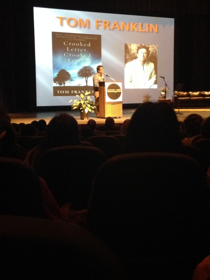 Author Tom Franklin performed at Writers Week on Tuesday.
