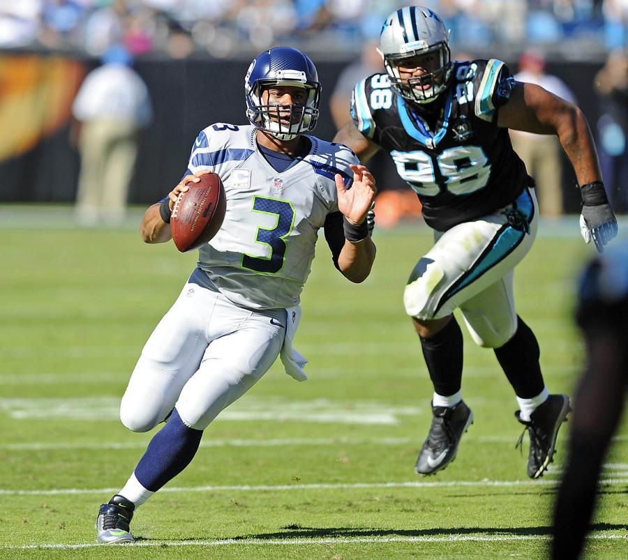 Russell+Wilson+will+have+to+lead+his+team+past+the+49ers+defense+by+using+his+running+abilities+on+Thursday