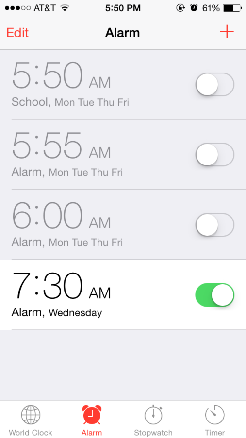 Some students get as many as two extra hours of sleep on Tuesday nights.