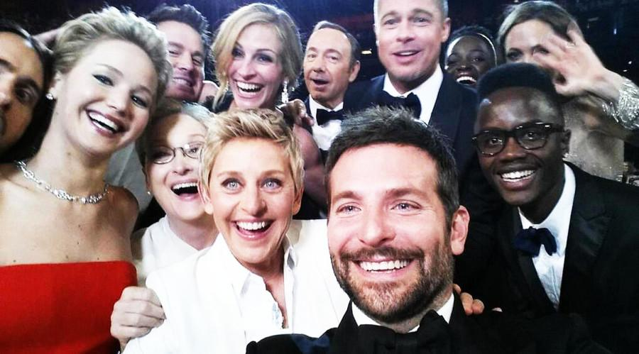 This Oscar selfie (posted on Ellen's Twitter) broke records for the most retweeted picture on twitter.