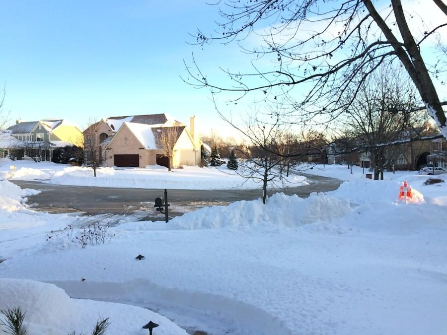 Snowy neighborhoods seemed to be a lesser priority of the village, as it took much longer to clear them.