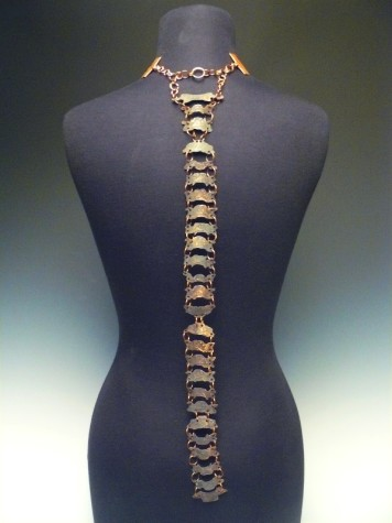 "Caffero's jewelry piece, ""Vertebrae"", is meant to accurately resemble the human spine, and won her a silver medal at the National Scholastic Art & Writing National Awards last month."