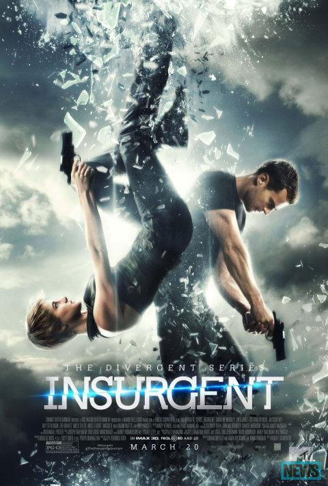 The Insurgent movie poster features Shailene Woodley and Theo James.