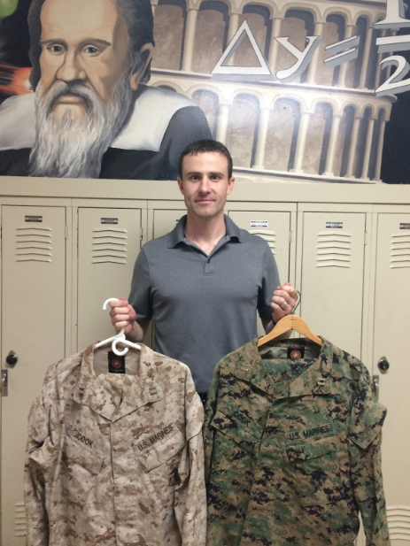 Currently a physics teacher at LHS, Mr. Cook's active duty ended in 2009, but he still remains part of the IRR.