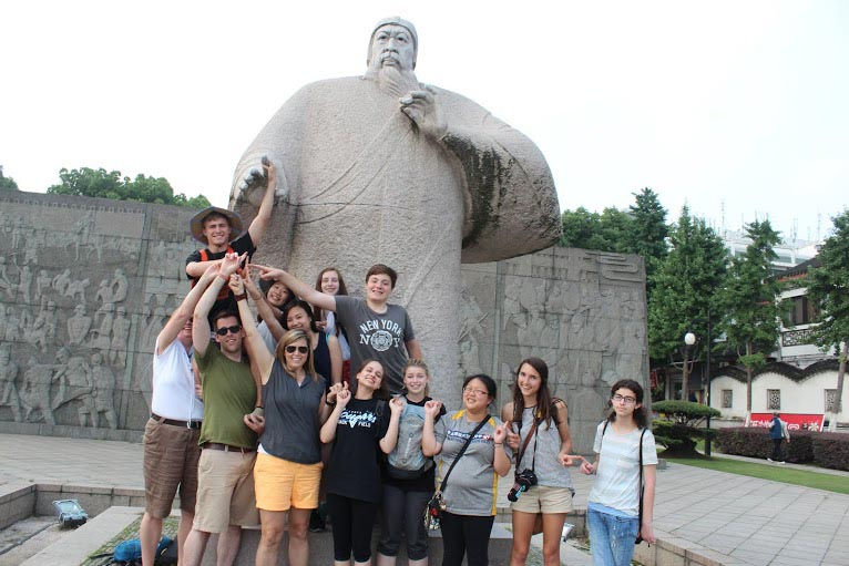 The China group visited different sites including Shanghai and Suzhou.