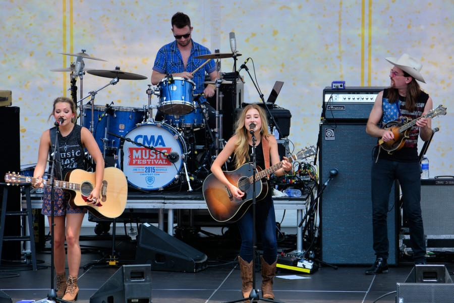 Maddie and Tae performing at the CMA Festival 2015 in Nashville.