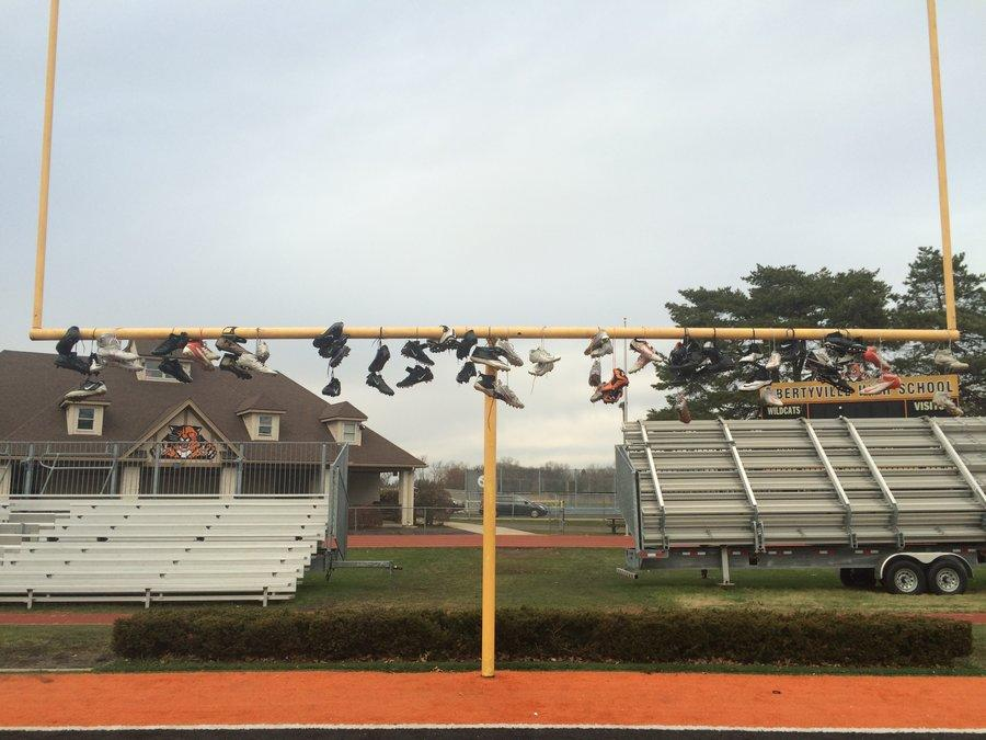 After playing in the IHSA state finals, seniors thew their cleats onto the goal posts at LHS. It was a way for them to leave a part of them on their home field and, for many, to symbolize the end of a large part of their lives.