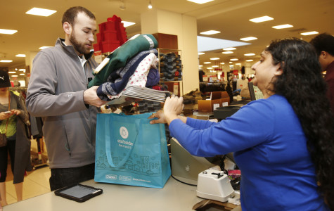 A Macy's customer purchases a multitude of items during December of 2014.