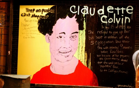 Displayed above is a mural of Claudette Colvin that is currently outside in New York. Alongside the portrait of Colvin, a historical background and facts are given about her.