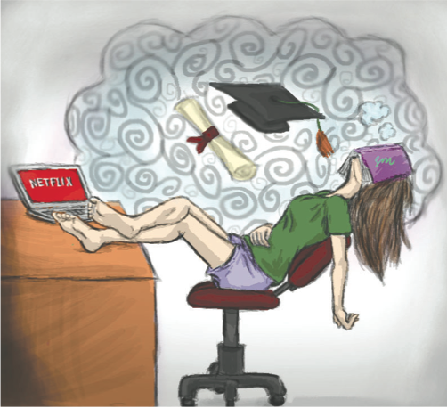 With spring in full swing, seniors turn their backs on their responsibilities as they get closer and closer to graduation in the phenomenon commonly known as senioritis.