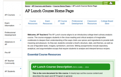 LHS to offer AP Lunch next year