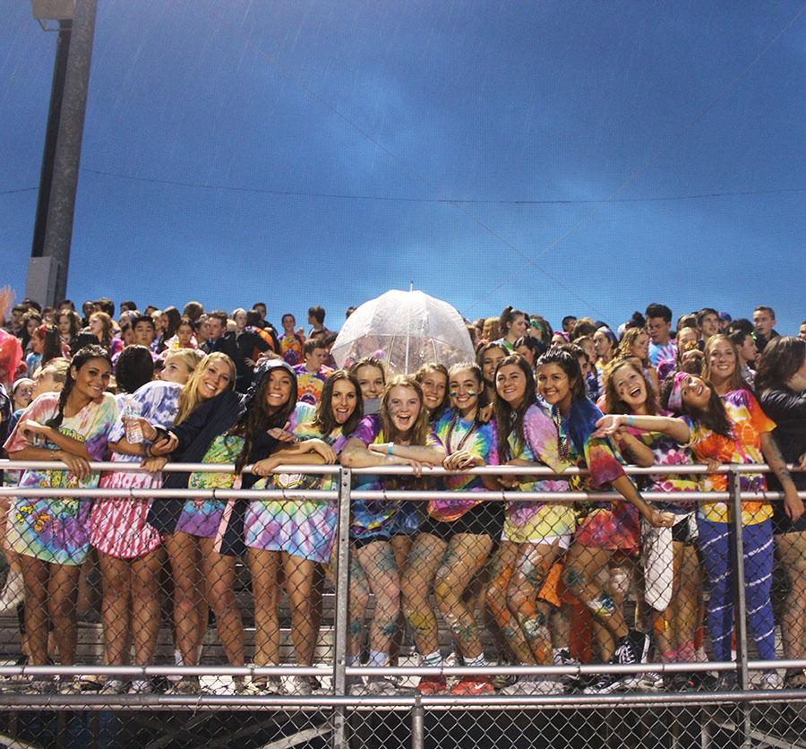 For the second home game of the season., LHS students showed their spirit with colorful apparel to celebrate the tie-dye theme