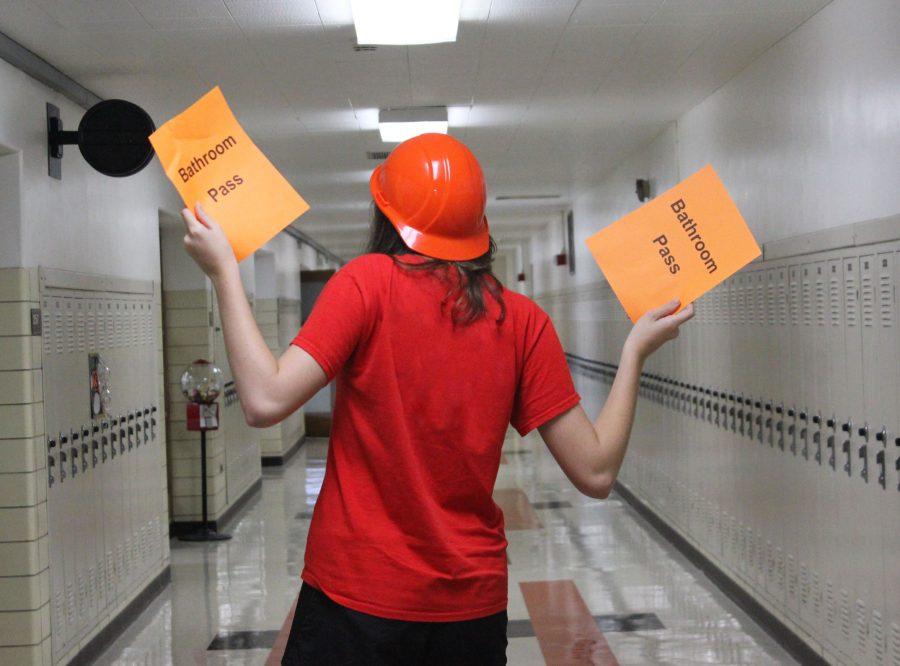 Teachers have different, uncommon bathroom passes like helmets and bathroom bucks
