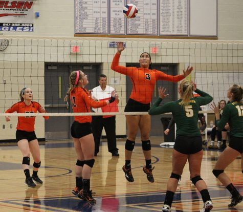 Girls volleyball team loses against Stevenson