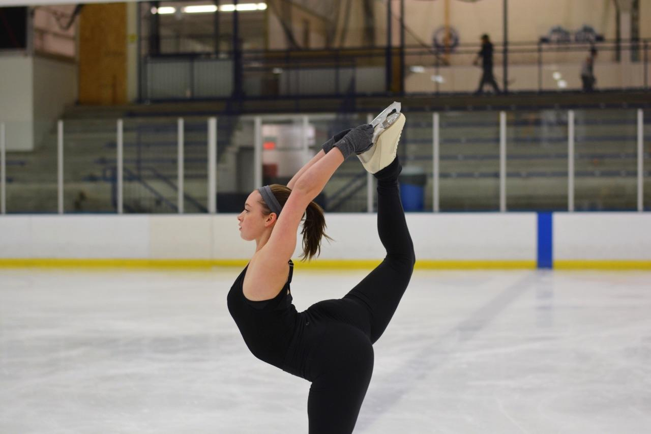 While+Sophie+Pearson+skates+across+ice%2C+she+achieves+a+Beillman.