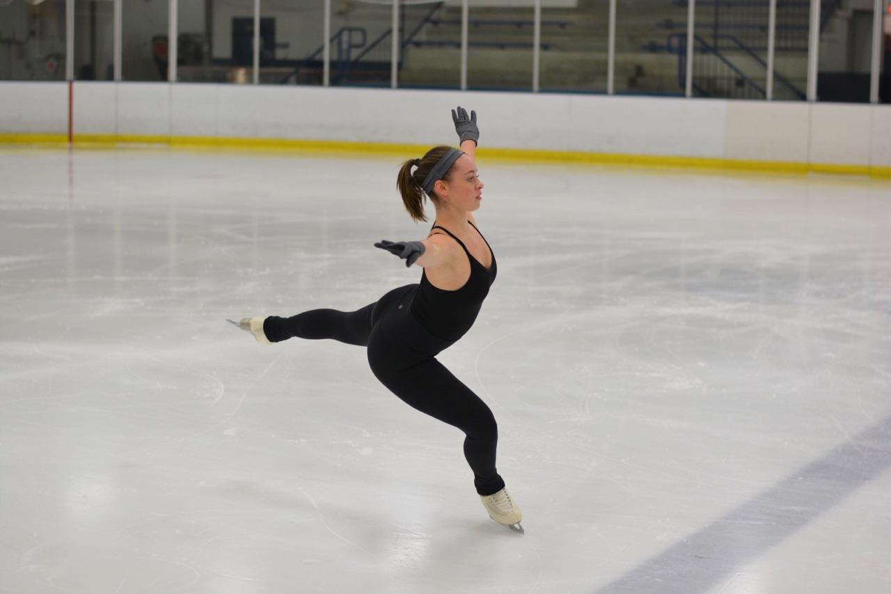 Sophie+Pearson+sticks+her+landing+position%2C+as+she+soars+across+the+ice.+