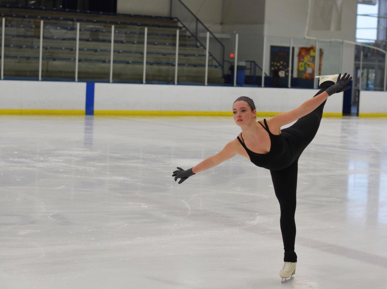 Sophie+Pearson+performs+one+of+her+favorite+moves+called+the+double+flip%2C+during+her+3+hour+practice+on+ice.+