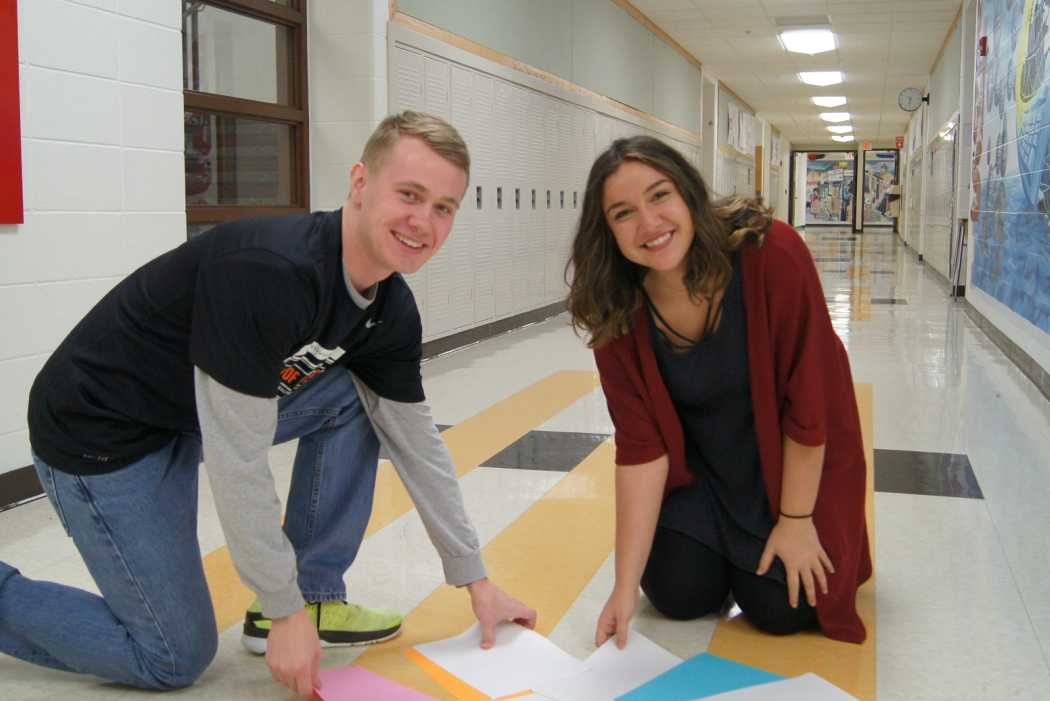 Christopher Haidvogel and Jenna El Ghatit won the citizenship award for their constant willingness to help people, such as picking up papers that fall in the hallway.