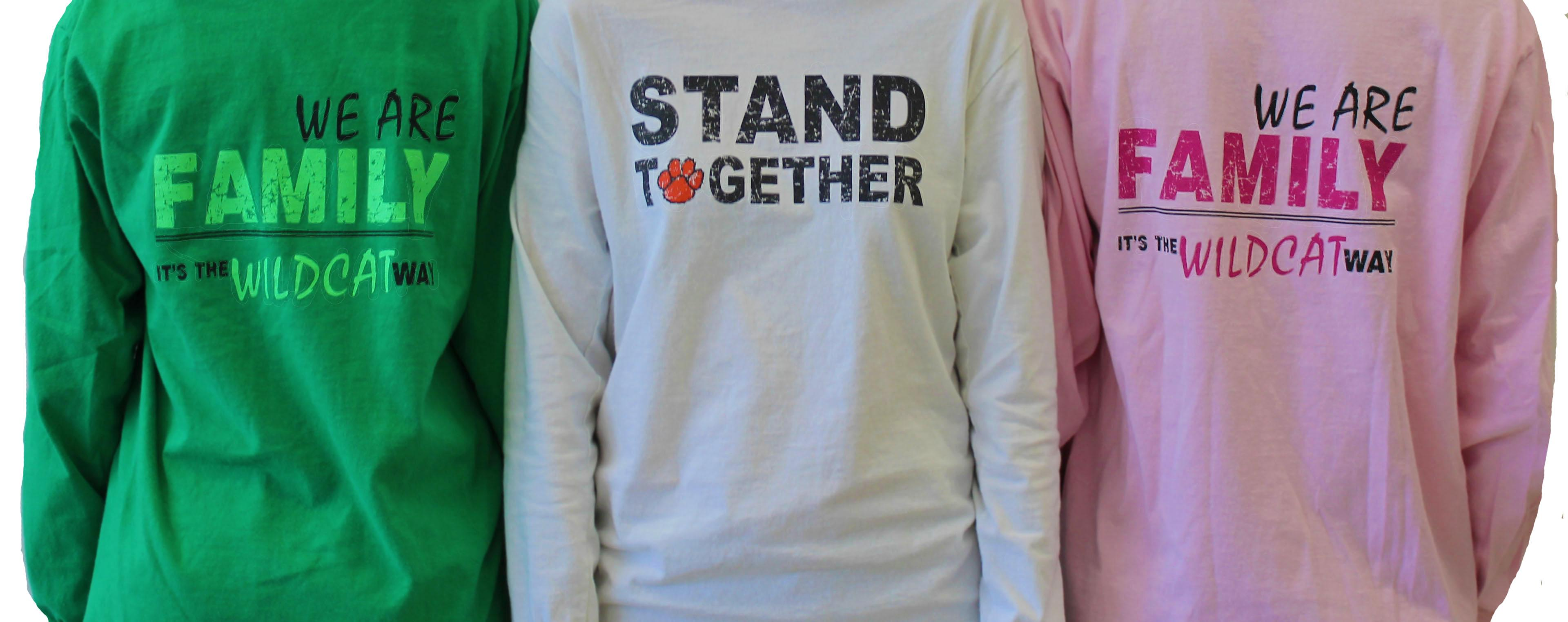 Ever since their first appearance in 2014, the Stand Together t-shirts have become popular in the LHS community. Worn by students and faculty alike, they symbolize that LHS stands together.