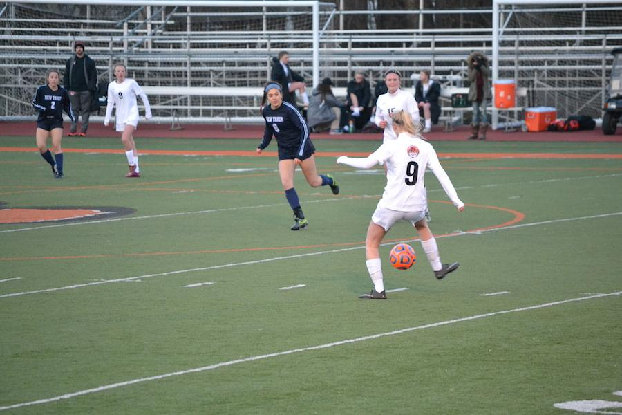 Sophomore Alex Houser (#9) is among several underclass starters in this year's young varsity team.