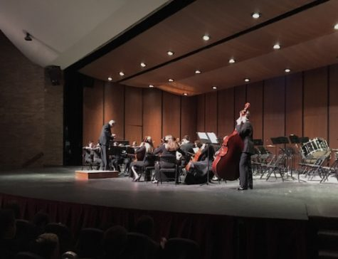 "Mr. Marino directs the Chamber Orchestra in ""La Oracion del Torero"""