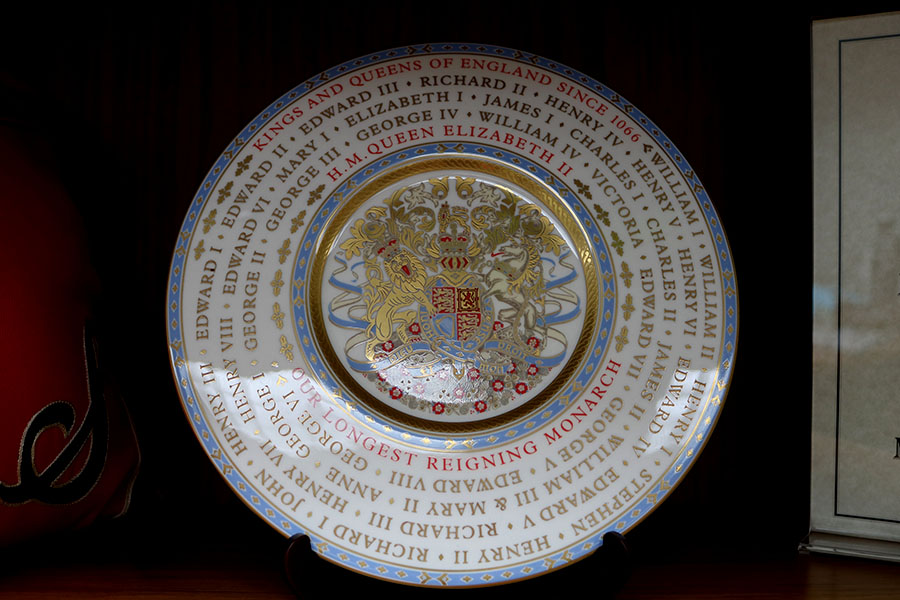 This plate was given to the LHS Band from London as an invitation to march in the London New Year's Day Parade, which is displayed in the main office.