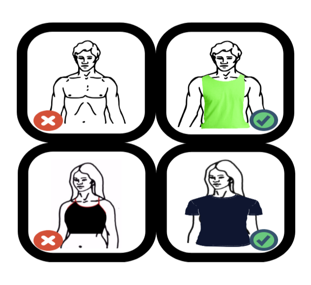 According+to+school+policy%2C+athletes+are+required+to+wear+shirts+at+all+times%2C+and+articles+of+clothing+such+as+sports+bras+or+crop+tops+are+prohibited.+