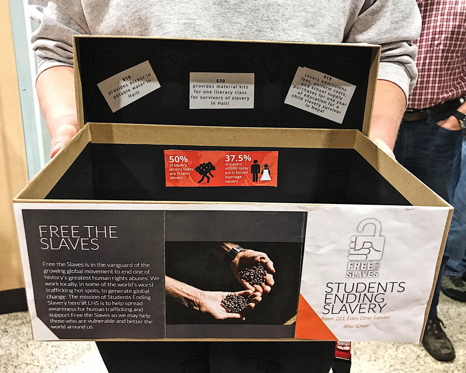At the school musical earlier this month, which included themes like enslavement and oppression, the members of Students Ending Slavery took the opportunity to educate the audience on present-day slavery and raise money for the club.