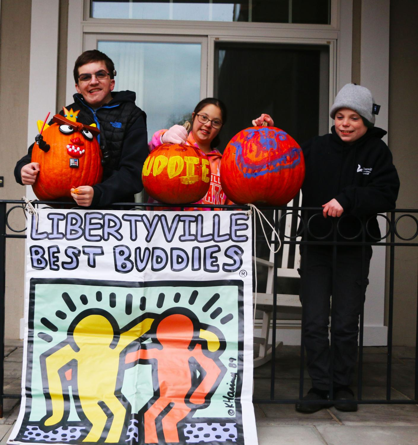 Peter Dankelson, Alexa Donato and Chase Miller attended the Best Buddies Halloween party and painted festive pumpkins on Oct. 28.
