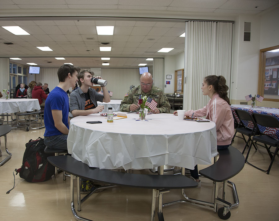 LHS provided breakfast for military veterans and their families on Nov. 8.