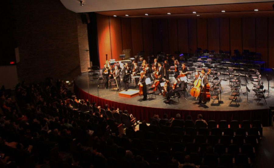 """The Chamber Orchestra played a song called """"West Side Story Overture"""" by Leonard Bernstein."""