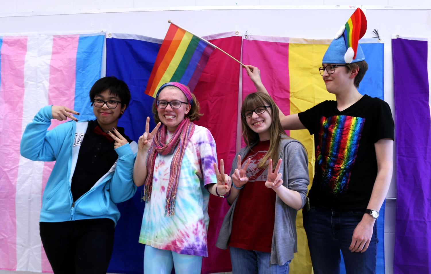 Senior Felisa Umadhay (far left), an active member of GSA, relayed that GSA was created as a safe space for members of the LGBTQ+ community.