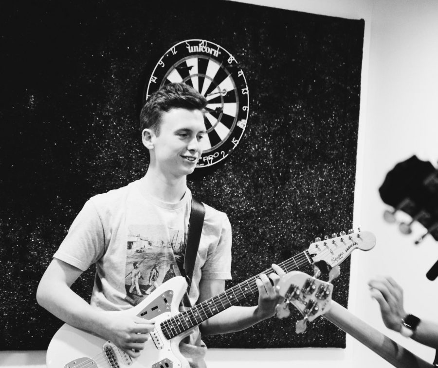 Senior Luke Ekdahl is the guitarist for a band called Ailurophile, which translates to cat lover.