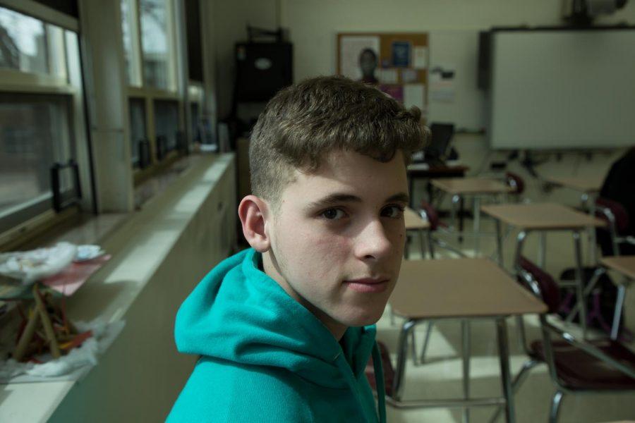 Sophomore+Carlos+Soto+from+Puerto+Rico+in+his+EL+classroom.+