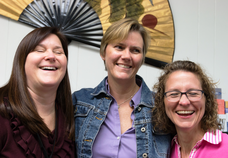 Mrs. Jennifer Lund, Ms. Amy Belstra and Mrs. Michelle Jones are in charge of all things college- and career-related at LHS. Despite working on their own responsibilities, such as scheduling visits with college representatives, meeting with students and sending transcripts to colleges, the three work as a team to make sure every LHS student is prepared for their future, whatever path that may be.