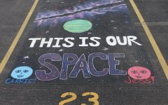 Seniors personalize carpool parking spots