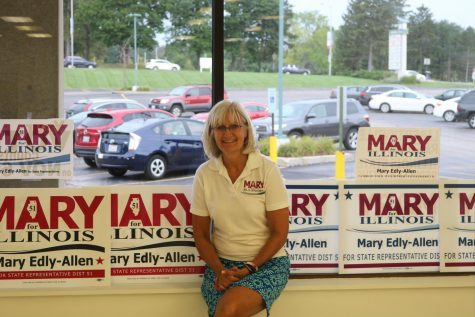 Mary Edly-Allen is running as the Democratic candidate for the State House position for the 51st District. Her office is located near Panera Bread on S. Milwaukee Rd.