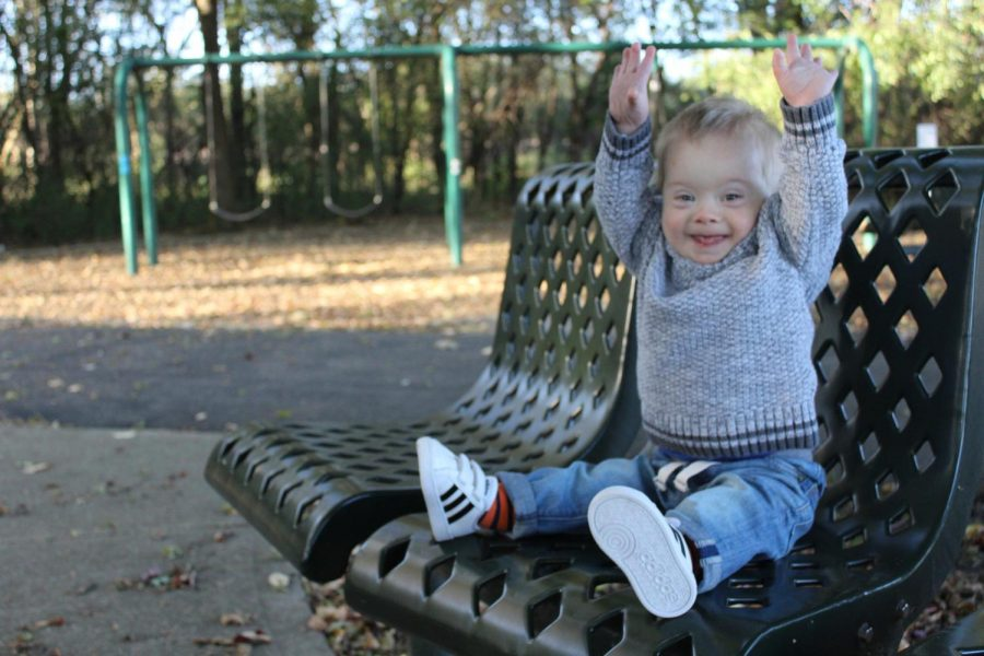 Cheerful+18-month-old+Hudson+Hammond%2C+son+of+Deerfield+GiGi%E2%80%99s+Playhouse+Board+Member+Hollyce+Hammond%2C+attends+GiGi%E2%80%99s+Playhouse+for+its+therapy%2C+teaching+of+sign+language%2C+and+socialization.