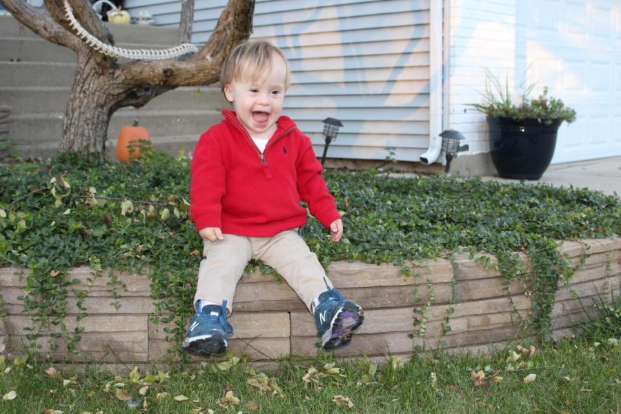 Finn Ray, a 2-year-old with Down Syndrome, currently goes to classes at a GiGi's Playhouse location in Hoffman Estates. His mother, Elizabeth Ray, expressed she is looking forward to a shorter commute for Finn's services at GiGi's in Deerfield.
