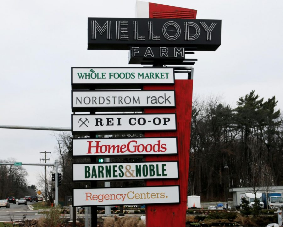 Mellody Farm, located across from Hawthorn Mall, is a shopping center that opened its first store, REI, on Sept. 14. There will eventually be 15 restaurants in Mellody Farm among the 50 total businesses.