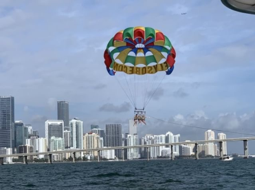 """My favorite part of Florida was parasailing. I went with my family, and it was fun because I had never done it before and it was cool to see the city."""