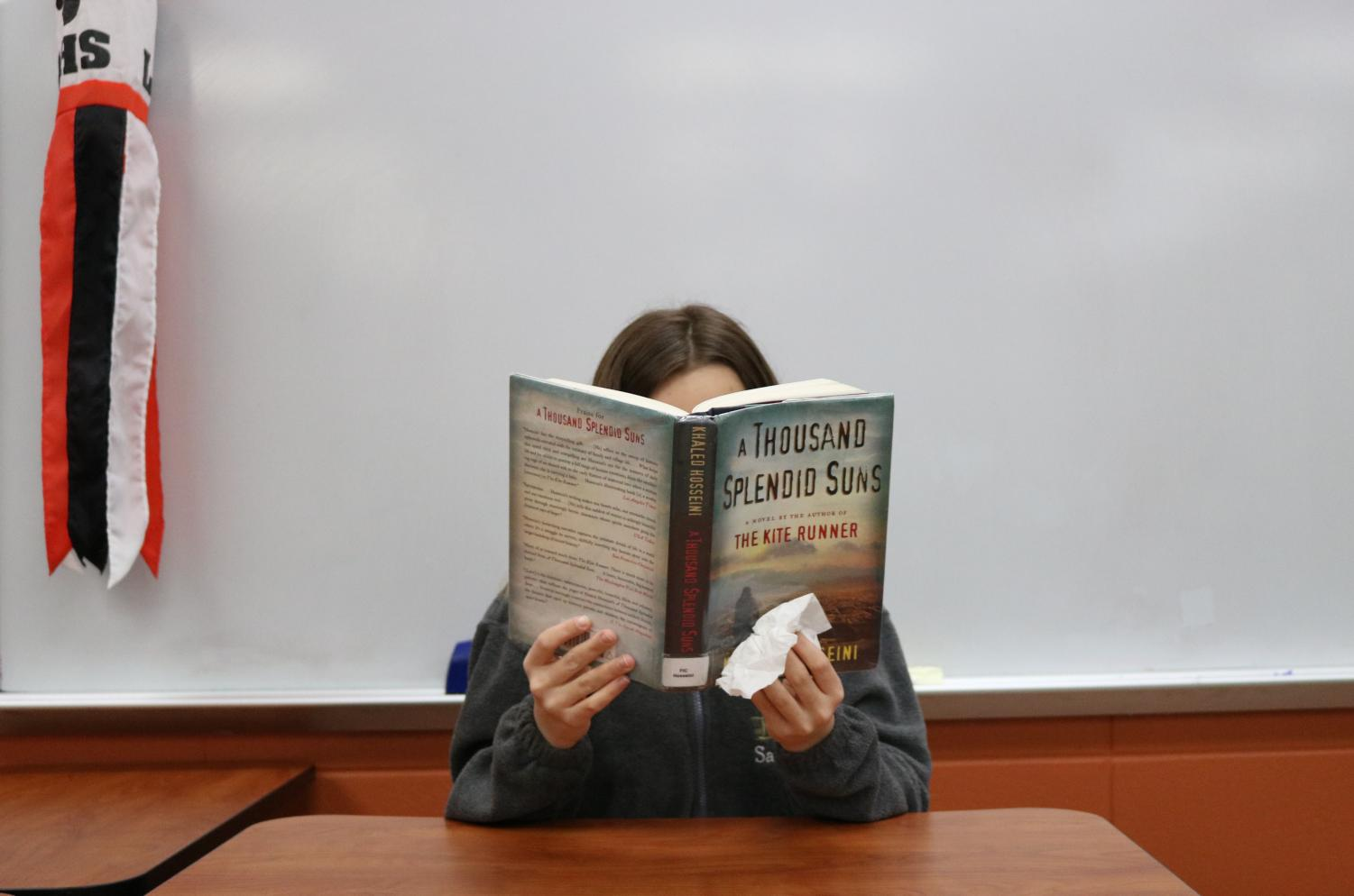 Students are often required to read sad books or watch sad movies in attempt to broaden their understanding of others. For example, A Thousand Splendid Suns is read in most sophomore English classes and leaves some students sad but also aware of those people's hardships.