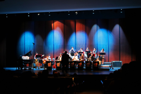 Jazz ensembles perform their winter concert
